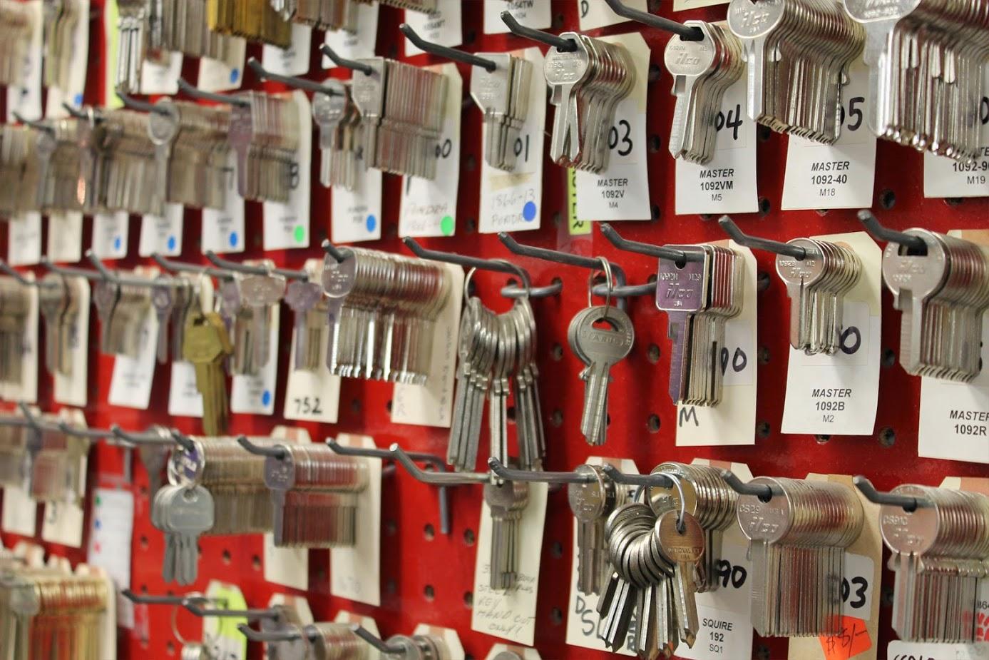 Locksmith key wall